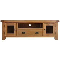 Montreux solid oak large tv unit