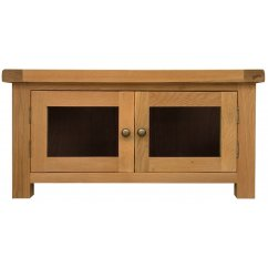 Montreux solid oak standard tv unit