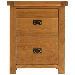 Montreux solid oak filing 2 drawer filing cabinet