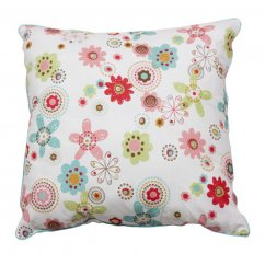 Kathy floral multi coloured 40cm x 40cm filled cushion