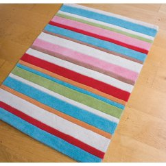 Kathy floral multi coloured 90cm x 120cm striped rug