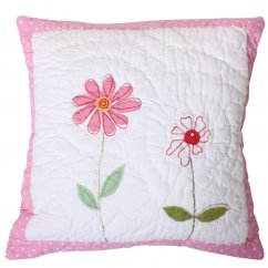 Flower garden 40cm x 40cm filled cushion