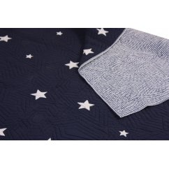 Stars navy single boys quilt throw, 140 x 200cm