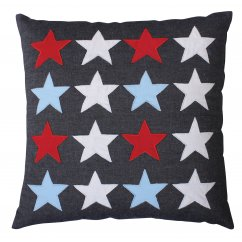 Stars multi 40cm x 40cm filled cushion