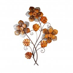 Copper flowers handmade wallart