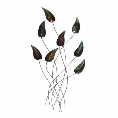 Autumn teardrop sprig metal handmade wallart