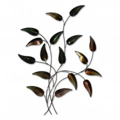 Autumn teardrop branch metal handmade wallart