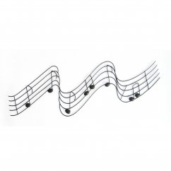 Musical notes scroll metal handmade wall art