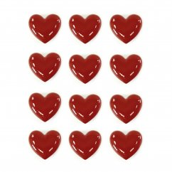 Small love hearts ceramic set of 12