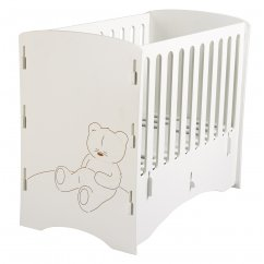 Cub nursery cot white painted