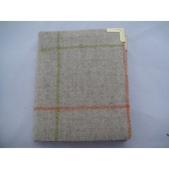 Gents wallet genuine wool scottish made in richmond natural multi