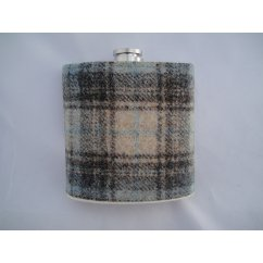 hip flask scottish made in celestial blue genuine wool