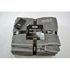 Designer  piece hand and bath towel bale set frost grey