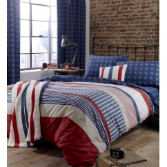 Stars and stripes navy and red duvet cover