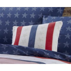 Stars and stripes multi filled cushion 45cm