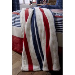 Stars and stripes fleece throw 120cm x 150cm