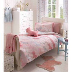 Scottie dog pink duvet set