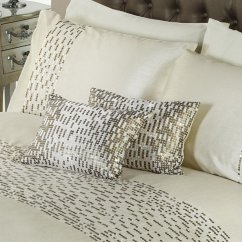 Chic oyster sequins boudoir 28x38 filled cushion