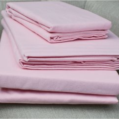 100% pure brushed cotton flannelette flat sheet pink (170gsm)
