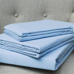 100% pure brushed cotton flannelette flat sheet blue (160gsm)