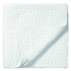 Bliss white quilted bed throw 170cm x 220cm