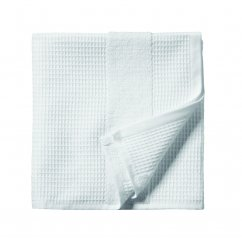 Sanctuary white waffle guest towel 400gsm