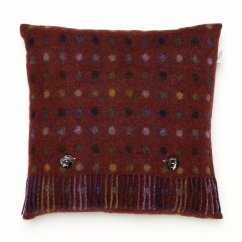 Spot check mulberry feather filled cushion 40cm