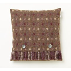 Spot check grape feather filled cushion 40cm