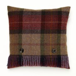 Skye check mulberry feather filled cushion 40cm