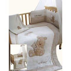 little bears cream 5 piece cot/cotbed bedding set