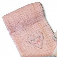 Heart design knitted Baby shawl - pink