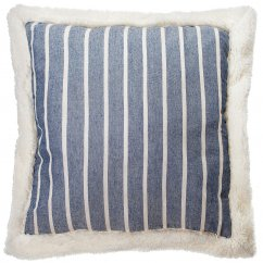 Mason striped denim cushion 45cm