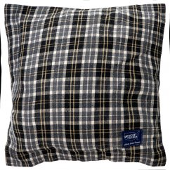 Seattle charcoal check filled cushion 45cm