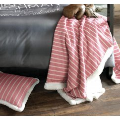 Mason striped red bed throw 150 x 200cm