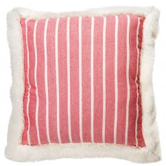 Mason striped red cushion 45cm