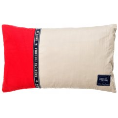Hudson red filled cushion 30cm x 50cm