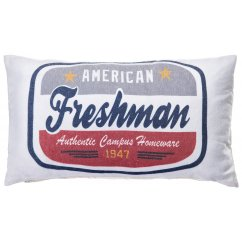Freshman red-navy 30cm x 50cm filled cushion