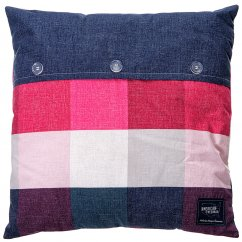 Anderson cherry and navy filled cushion 45cm