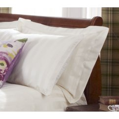 Piazza cream sateen striped duvet cover