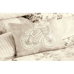 Lila natural bicycle boudoir cushion 28x38cm