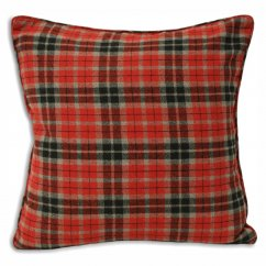 Lomond wool mix red check 45cm cushion cover