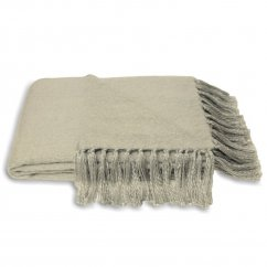Chiltern grey knitted throw 127cm x 180cm