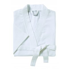 Sanctuary white waffle cotton bathrobe