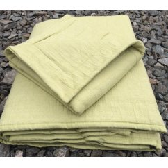 Chester stonewashed pure cotton bedspread - green