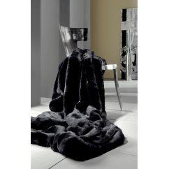 Felldecke black fur blanket 140cm x 200cm