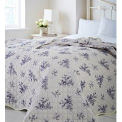 Toile french style floral bedspread 200cm x 230cm