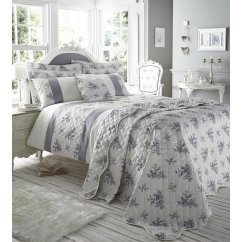 Toile french style floral bedspread accessory pack