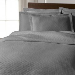 Chester stonewashed pure cotton bedspread - silver grey