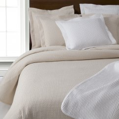 Waffle heavy weave pure cotton bed throws white/cream