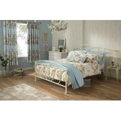 Meadow seafoam floral reversible duvet cover